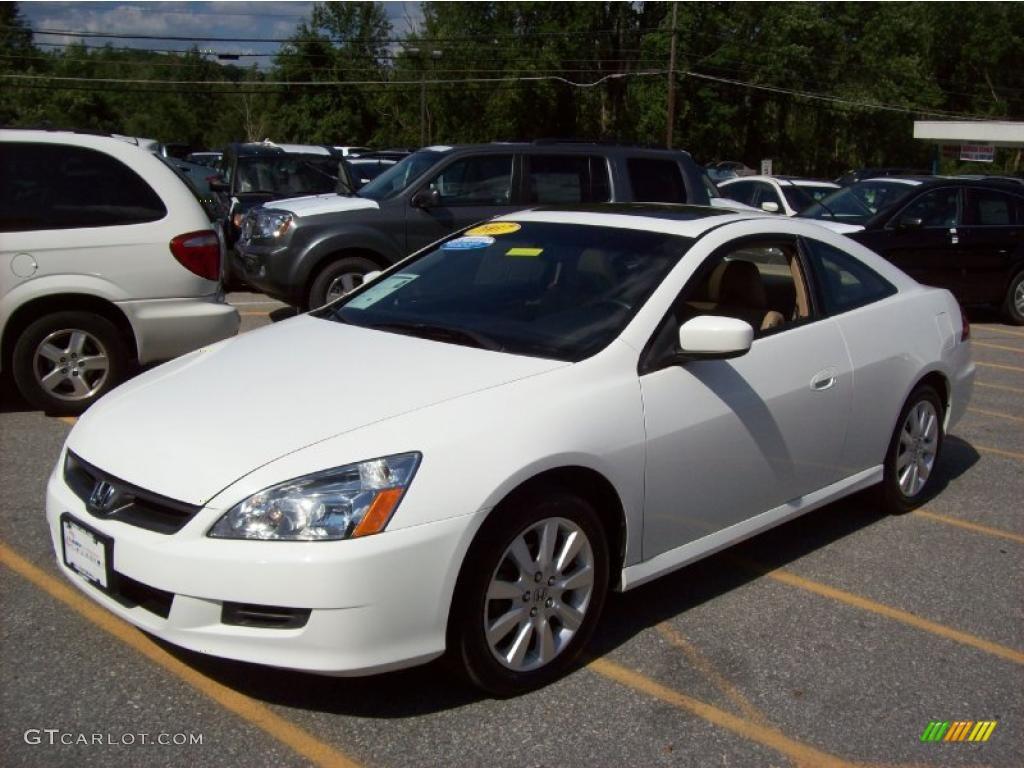 2007 Taffeta White Honda Accord Ex V6 Coupe 33549028