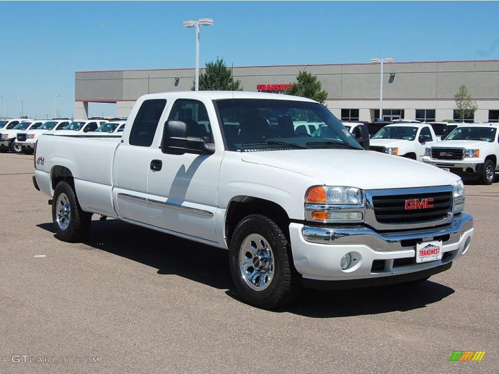 2006 summit white gmc sierra 1500 extended cab 4x4. Black Bedroom Furniture Sets. Home Design Ideas