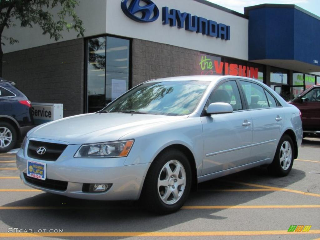 2006 Silver Blue Metallic Hyundai Sonata Lx V6 33549356