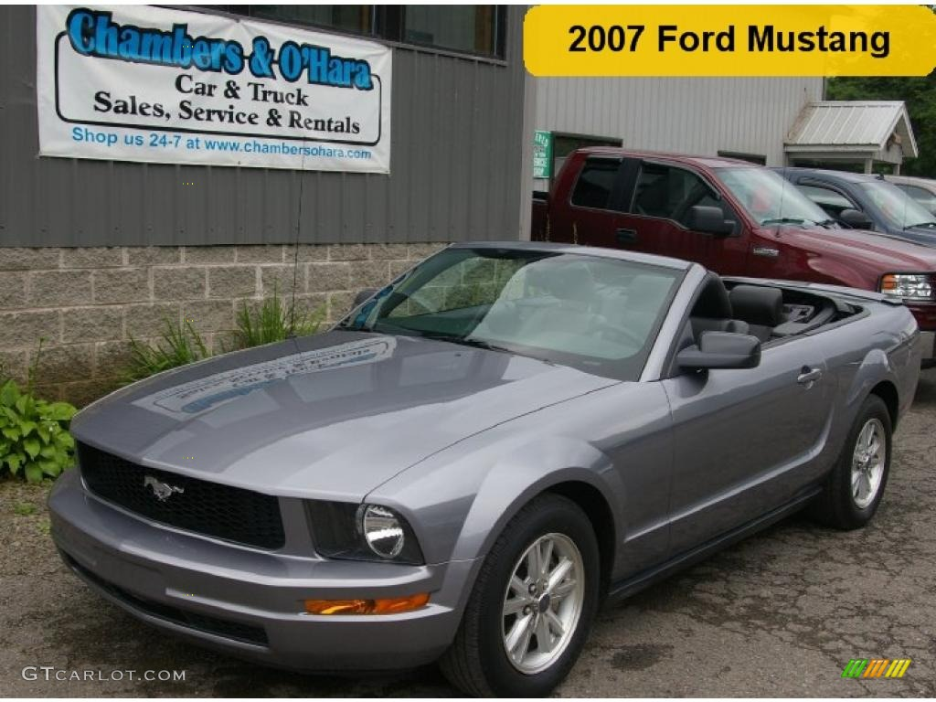 2007 Mustang V6 Premium Convertible - Tungsten Grey Metallic / Dark Charcoal photo #1