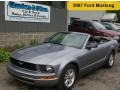 2007 Tungsten Grey Metallic Ford Mustang V6 Premium Convertible  photo #1