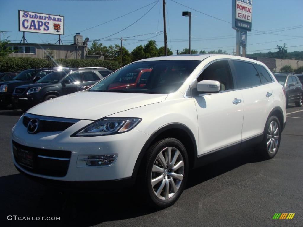 2009 crystal white pearl mica mazda cx 9 grand touring awd. Black Bedroom Furniture Sets. Home Design Ideas