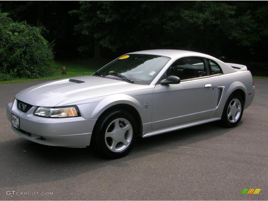 1999 mustang gt coupe silver metallic dark charcoal photo 1