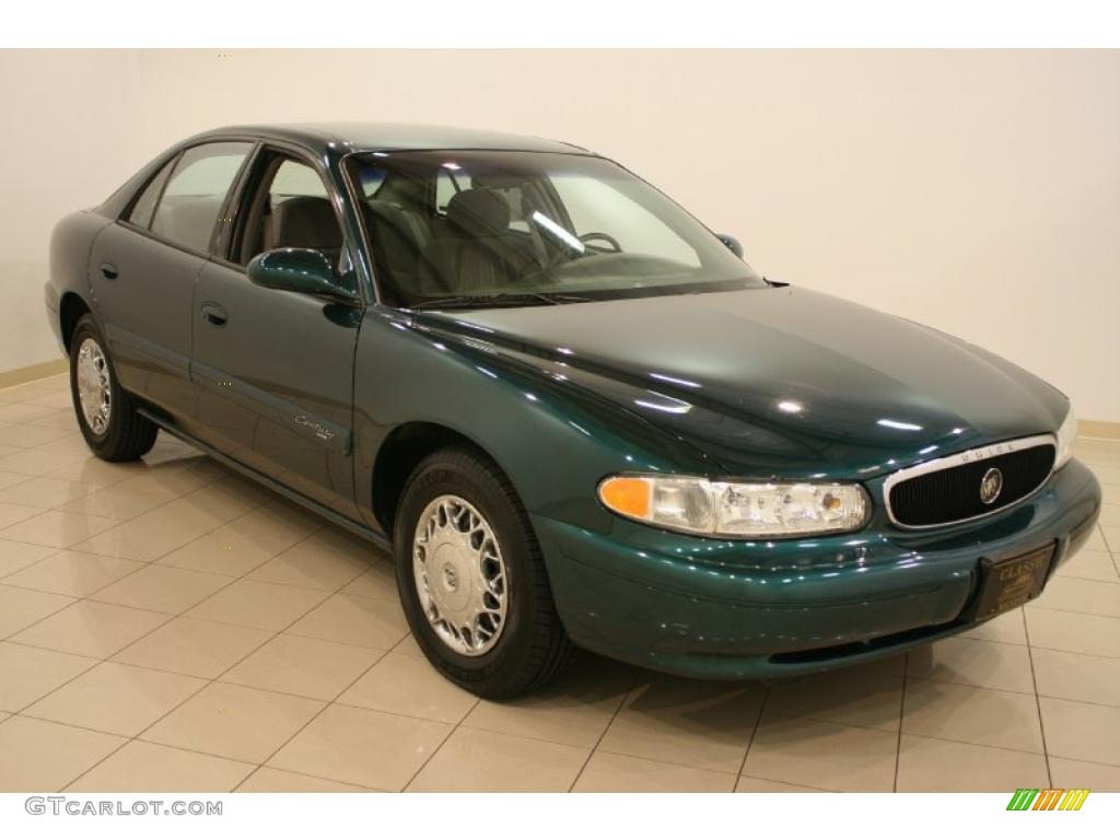 2002 Buick Century Custom - Jasper Green Metallic Color / Medium Gray ...