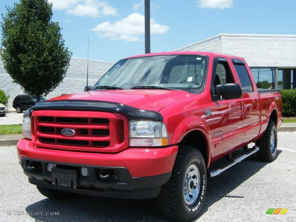 2003 Ford F250 Lariat Supercab Super Duty News >> 2003 Red Clearcoat Ford F250 Super Duty Lariat Crew Cab 4x4 #33673210 Photo #3   GTCarLot.com ...