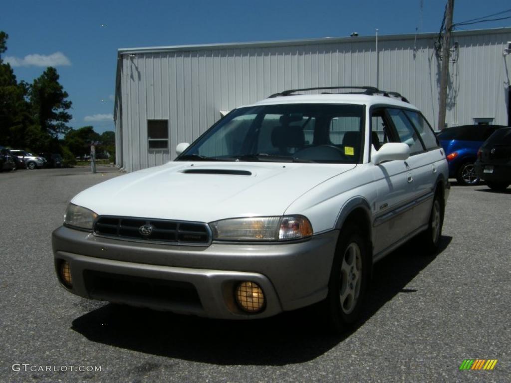 1998 Glacier White Subaru Legacy Outback Limited Wagon 33673222 Gray Photo 1