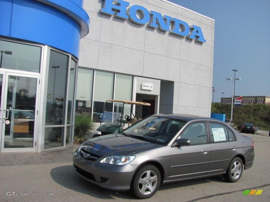 2005 Civic EX Sedan - Magnesium Metallic / Gray photo #1