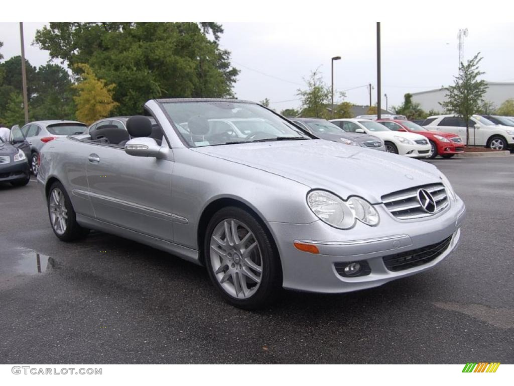 2008 iridium silver metallic mercedes benz clk 350 for Mercedes benz silver