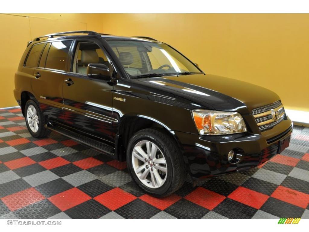2007 black toyota highlander hybrid limited 4wd 33673666. Black Bedroom Furniture Sets. Home Design Ideas