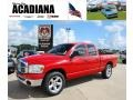 2008 Flame Red Dodge Ram 1500 ST Quad Cab  photo #1