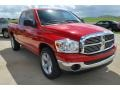 2008 Flame Red Dodge Ram 1500 ST Quad Cab  photo #9