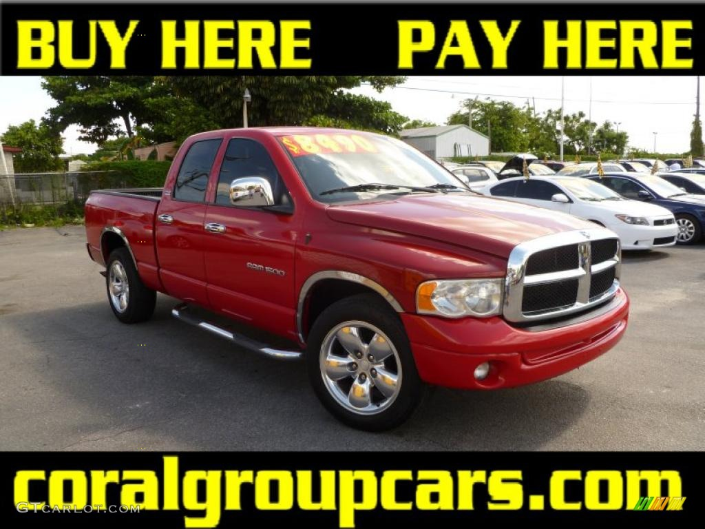 2002 Ram 1500 Sport Quad Cab - Flame Red / Dark Slate Gray photo #1