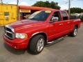2002 Flame Red Dodge Ram 1500 Sport Quad Cab  photo #3