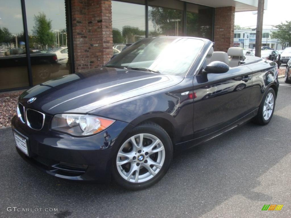2008 Monaco Blue Metallic BMW 1 Series 128i Convertible #33673193 ...