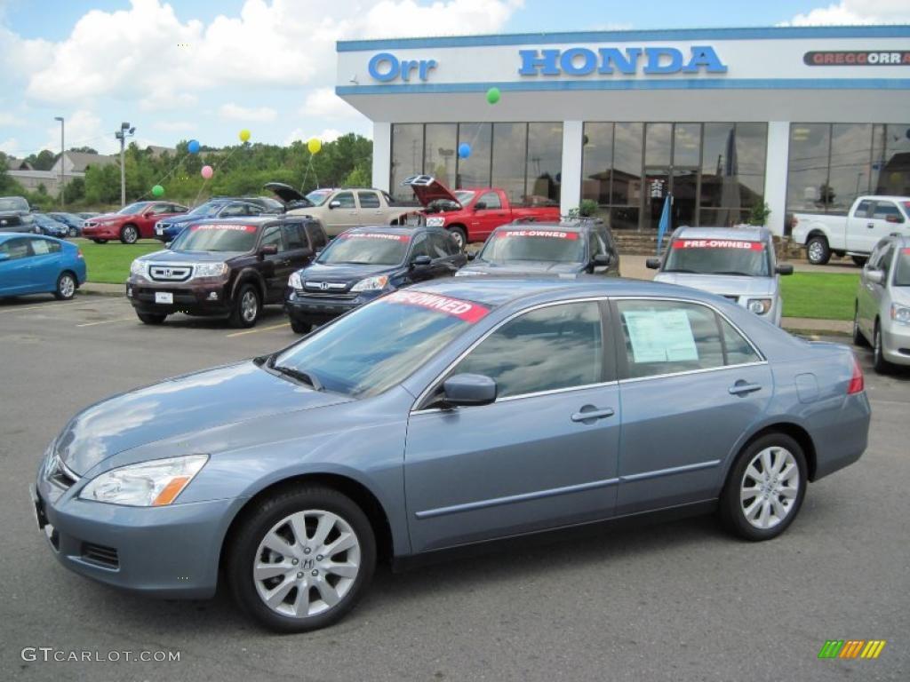 2007 cool blue metallic honda accord se v6 sedan 33744965 car color galleries. Black Bedroom Furniture Sets. Home Design Ideas