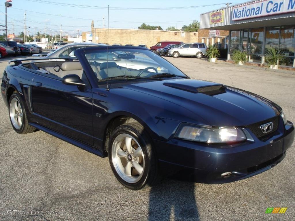 2001 Mustang GT Convertible - True Blue Metallic / Medium Graphite photo #1
