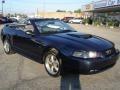 2001 True Blue Metallic Ford Mustang GT Convertible  photo #1