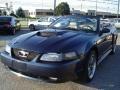 2001 True Blue Metallic Ford Mustang GT Convertible  photo #3