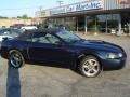 2001 True Blue Metallic Ford Mustang GT Convertible  photo #37