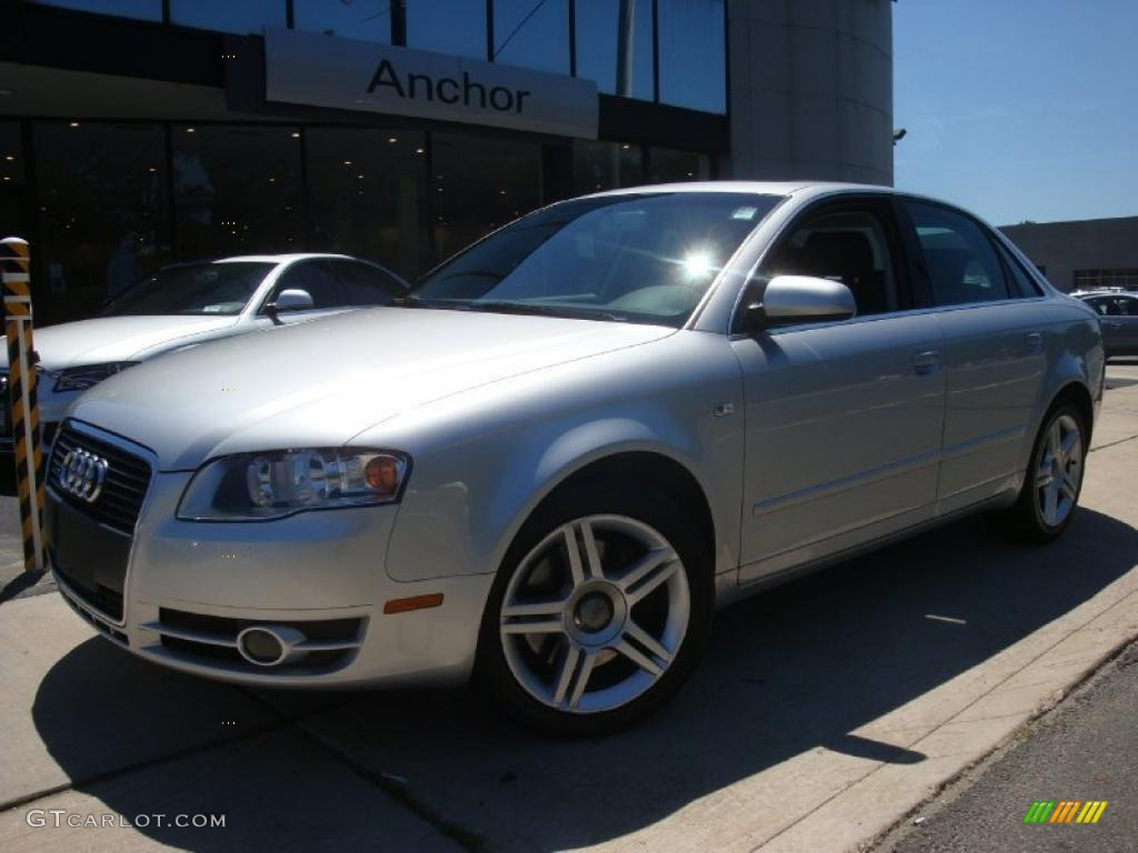 2007 light silver metallic audi a4 2 0t quattro sedan. Black Bedroom Furniture Sets. Home Design Ideas