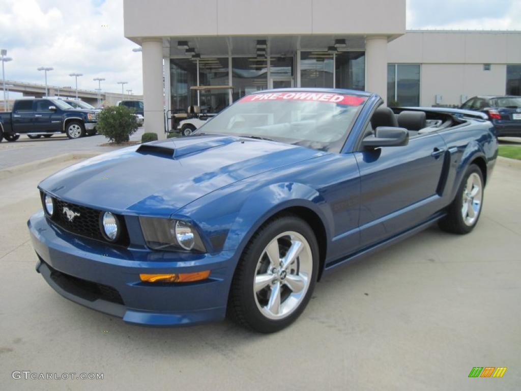 2007 vista blue metallic ford mustang gt cs california special