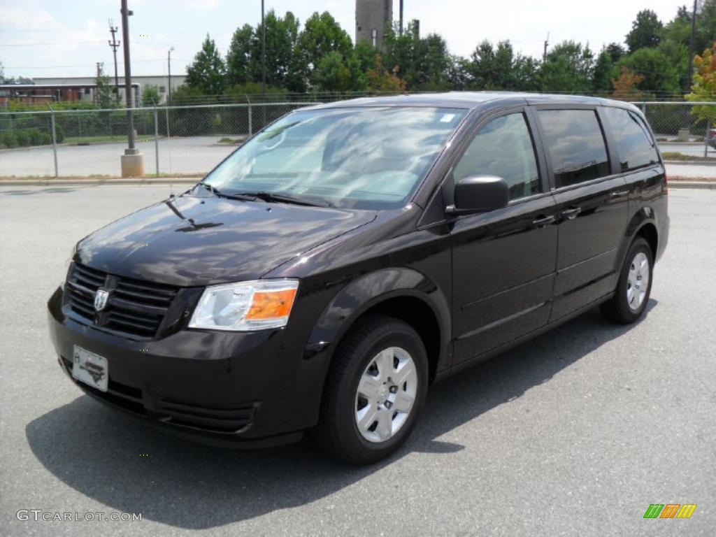 2010 grand caravan se dark cordovan pearlcoat dark slate gray light shale photo