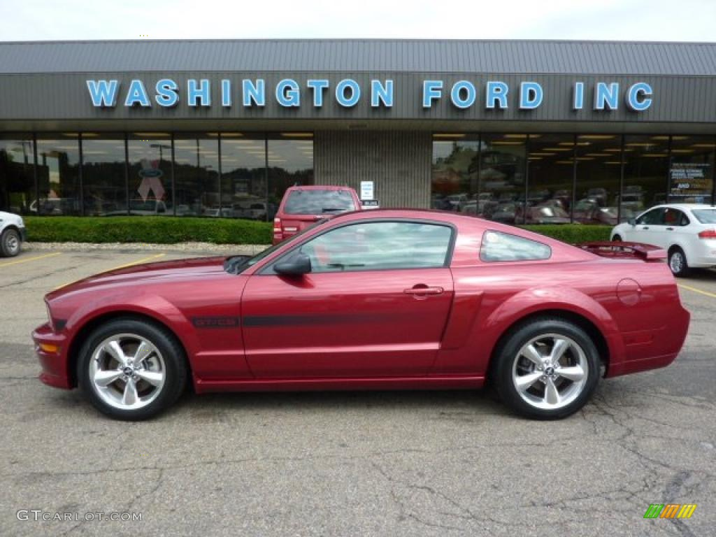 2007 Mustang GT/CS California Special Coupe - Redfire Metallic / Black/Parchment photo #1