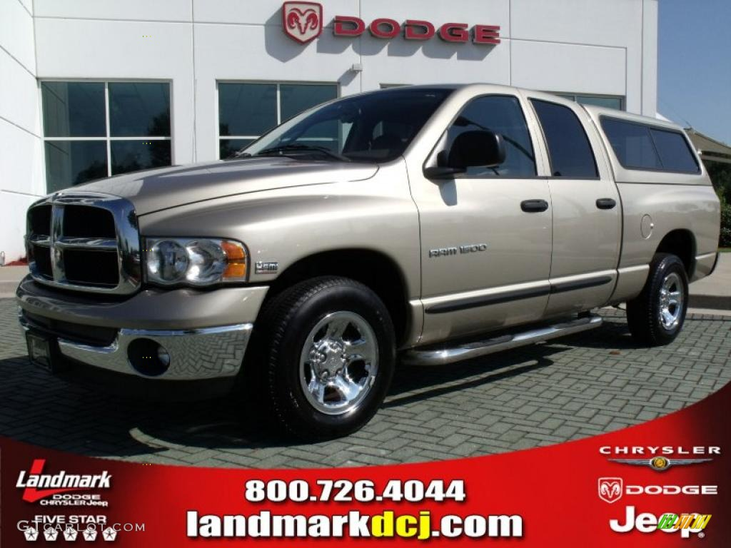 2005 Ram 1500 SLT Quad Cab - Light Almond Pearl / Dark Slate Gray photo #1