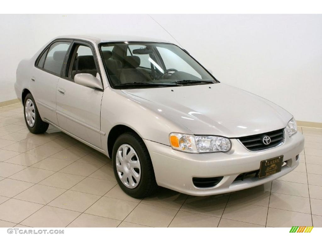 2001 Corolla LE   Silverstream Opal / Light Charcoal Photo #1