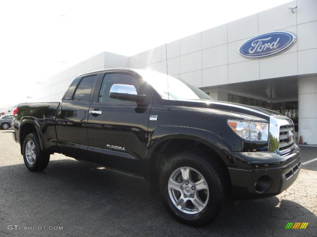 2007 Tundra Limited Double Cab 4x4 - Black / Red Rock photo #1