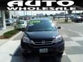 2010 Crystal Black Pearl Honda CR-V EX-L  photo #2