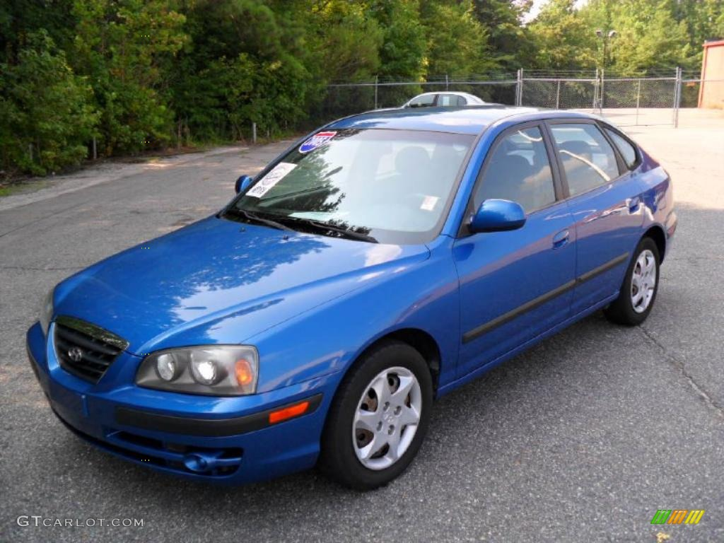2005 elantra gls hatchback tidal wave blue gray photo 1