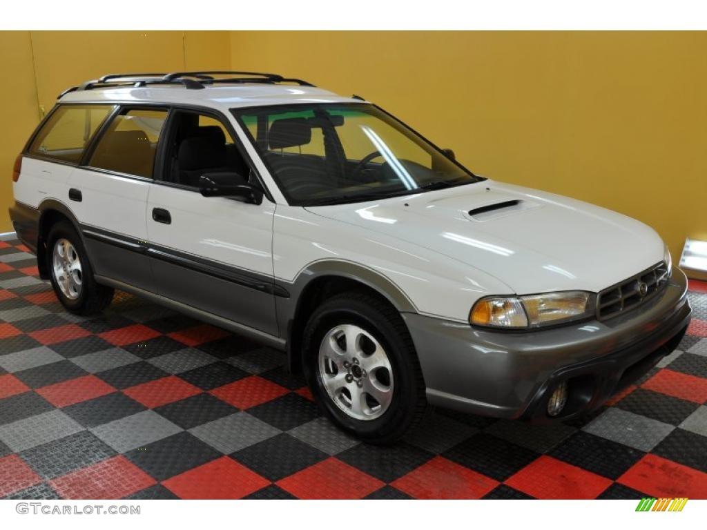 1999 glacier white subaru legacy outback wagon #33802855
