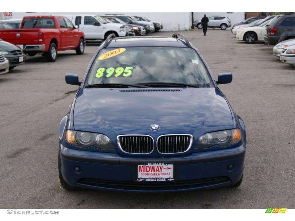 2003 mystic blue metallic bmw 3 series 325i wagon #33803271