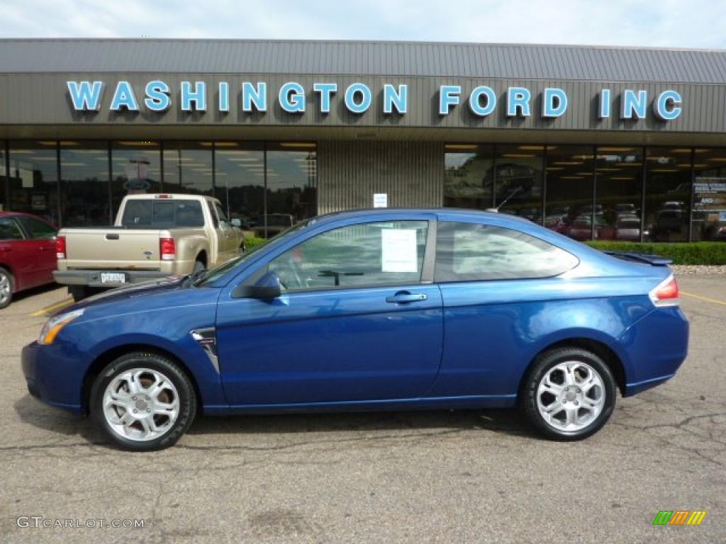 2008 vista blue metallic ford focus ses coupe 33882349. Black Bedroom Furniture Sets. Home Design Ideas