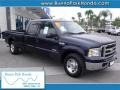 True Blue Metallic 2006 Ford F250 Super Duty Lariat Crew Cab