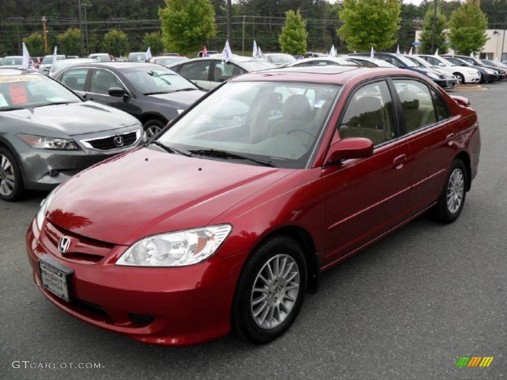 2005 tango red pearl honda civic ex sedan 33936015. Black Bedroom Furniture Sets. Home Design Ideas