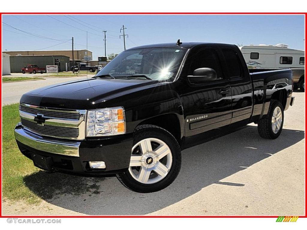 2007 black chevrolet silverado 1500 lt extended cab texas edition 33935796 car. Black Bedroom Furniture Sets. Home Design Ideas
