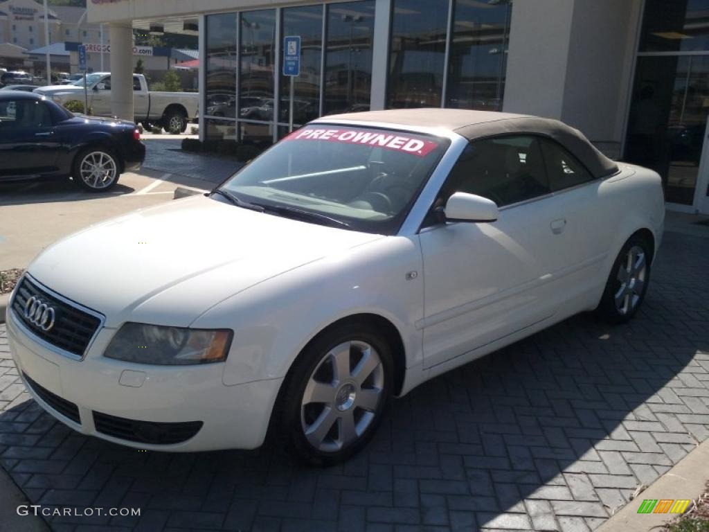 2004 arctic white audi a4 1 8t cabriolet 33935932 car color galleries. Black Bedroom Furniture Sets. Home Design Ideas