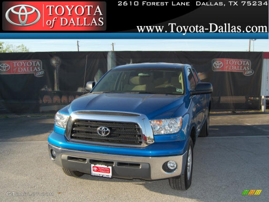 2008 Tundra SR5 Double Cab - Blue Streak Metallic / Beige photo #1