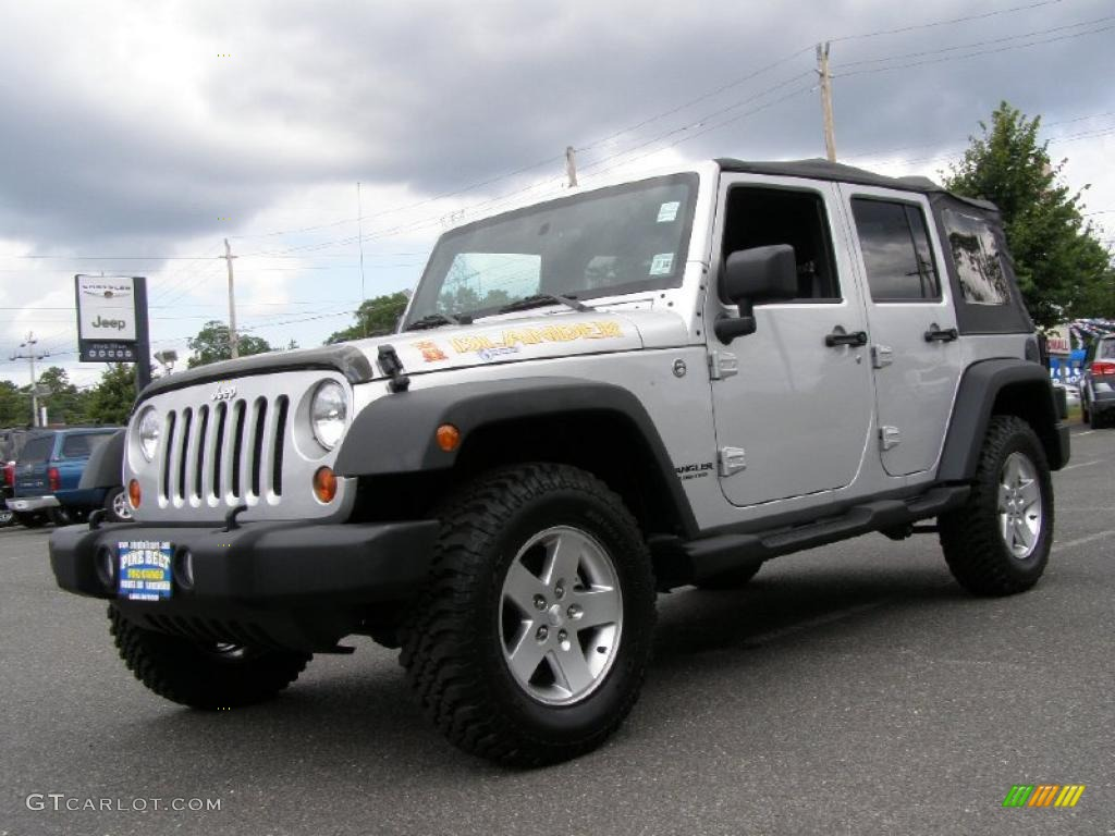 2010 bright silver metallic jeep wrangler unlimited. Black Bedroom Furniture Sets. Home Design Ideas
