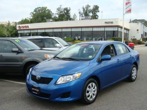 Blue Toyota Corolla 2010 Le. Toyota Corolla LE middot; 2010