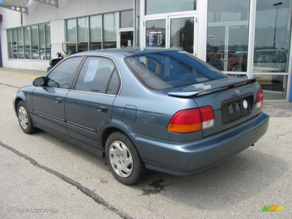 1997 cyclone blue metallic honda civic lx sedan 34095153 photo 4 car color. Black Bedroom Furniture Sets. Home Design Ideas