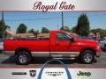 2002 Flame Red Dodge Ram 1500 SLT Regular Cab 4x4  photo #1