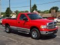 2002 Flame Red Dodge Ram 1500 SLT Regular Cab 4x4  photo #2