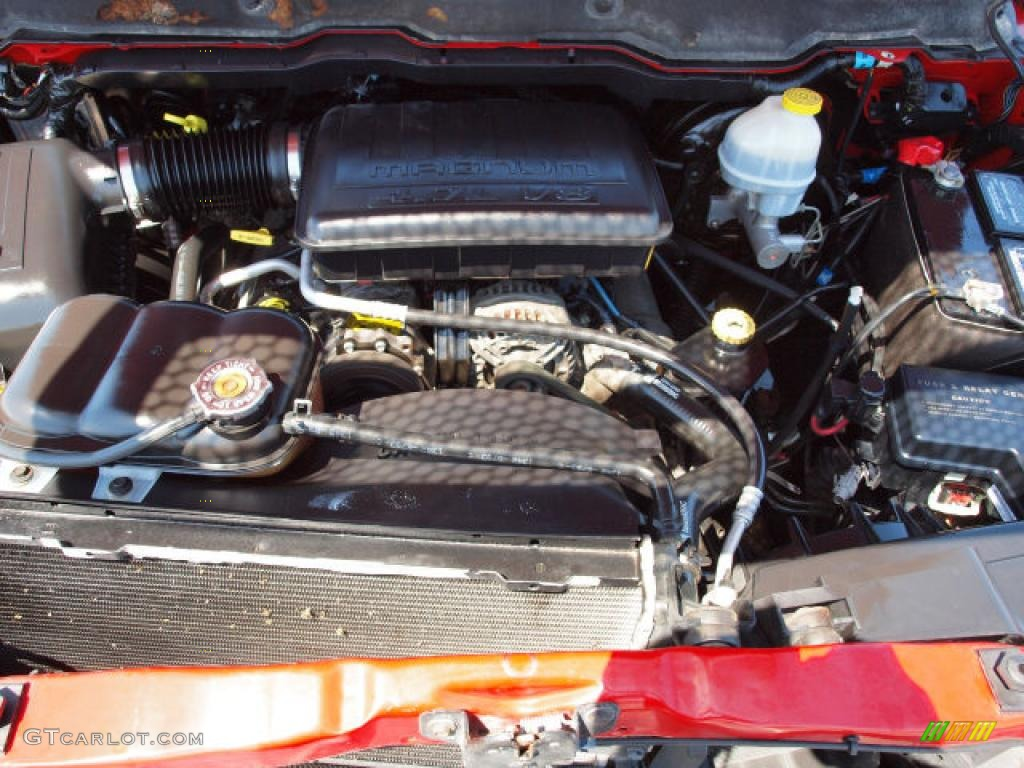 2002 Ram 1500 SLT Regular Cab 4x4 - Flame Red / Dark Slate Gray photo #7