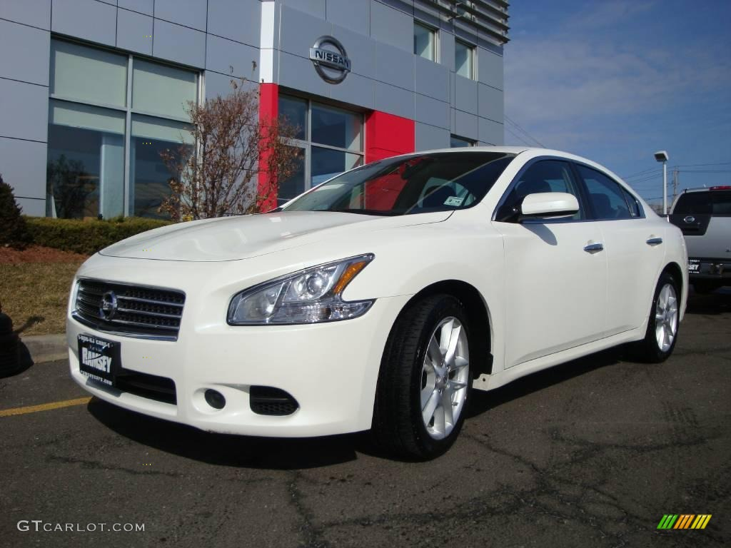 2009 Nissan Maxima Sv >> 2009 Winter Frost White Nissan Maxima 3.5 S #3405729 | GTCarLot.com - Car Color Galleries