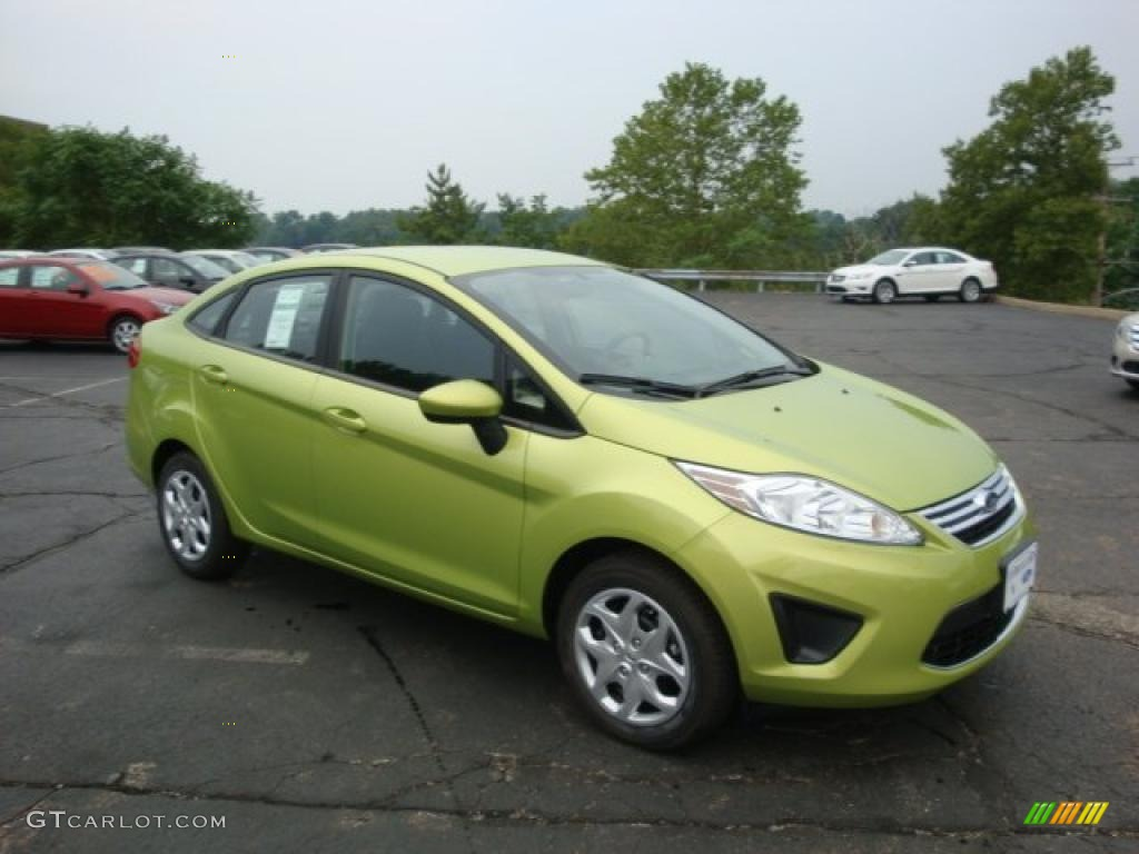 Lime squeeze metallic ford fiesta