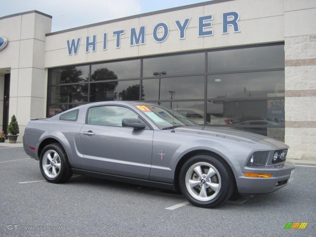 2007 Mustang V6 Premium Coupe - Tungsten Grey Metallic / Light Graphite photo #1