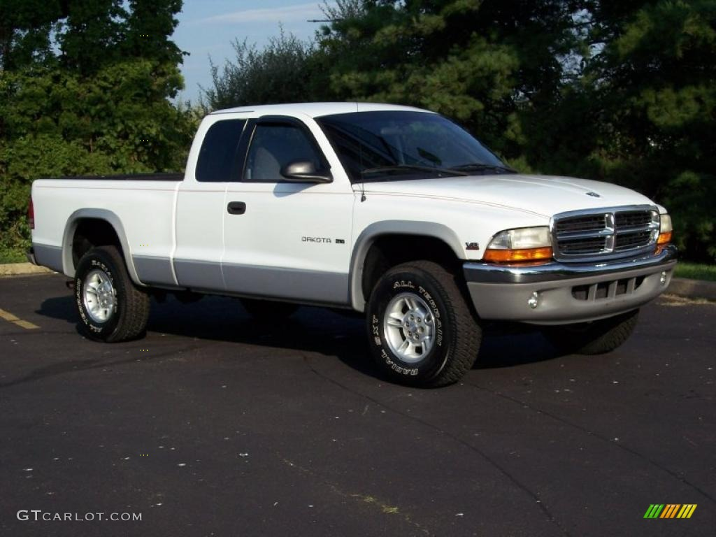 1999 Bright White Dodge Dakota Slt Extended Cab 4x4